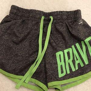 Gray and green justice shorts
